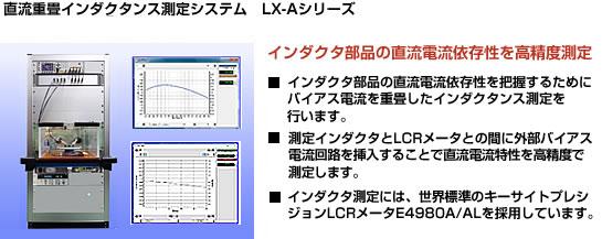直流重畳インダクタンス測定システム インダクタ部品の直流電流依存性を高精度測定
